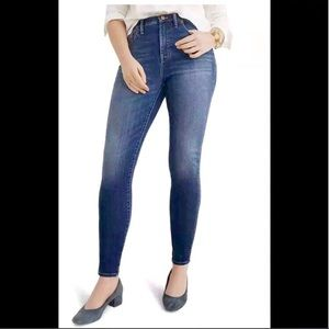 "Madewell 10"" High-Riser Skinny Skinny Blue Jeans"